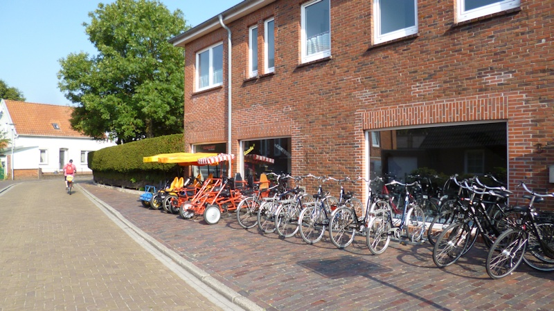 Fahrradverleih auf Borkum